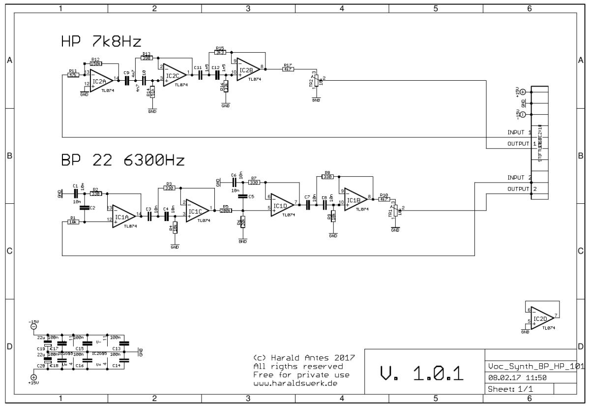 Vocoder_Synthesizer_schematic_BP_HP_101 Vocoder Schematic on limiter schematic, guitar schematic, wah schematic, ring modulator schematic, linear predictive coding, noise gate schematic, theremin schematic, radio schematic, vibrato schematic, mixer schematic, computer schematic, overdrive schematic, talk box, pitch shifter schematic, chorus schematic, trautonium schematic,