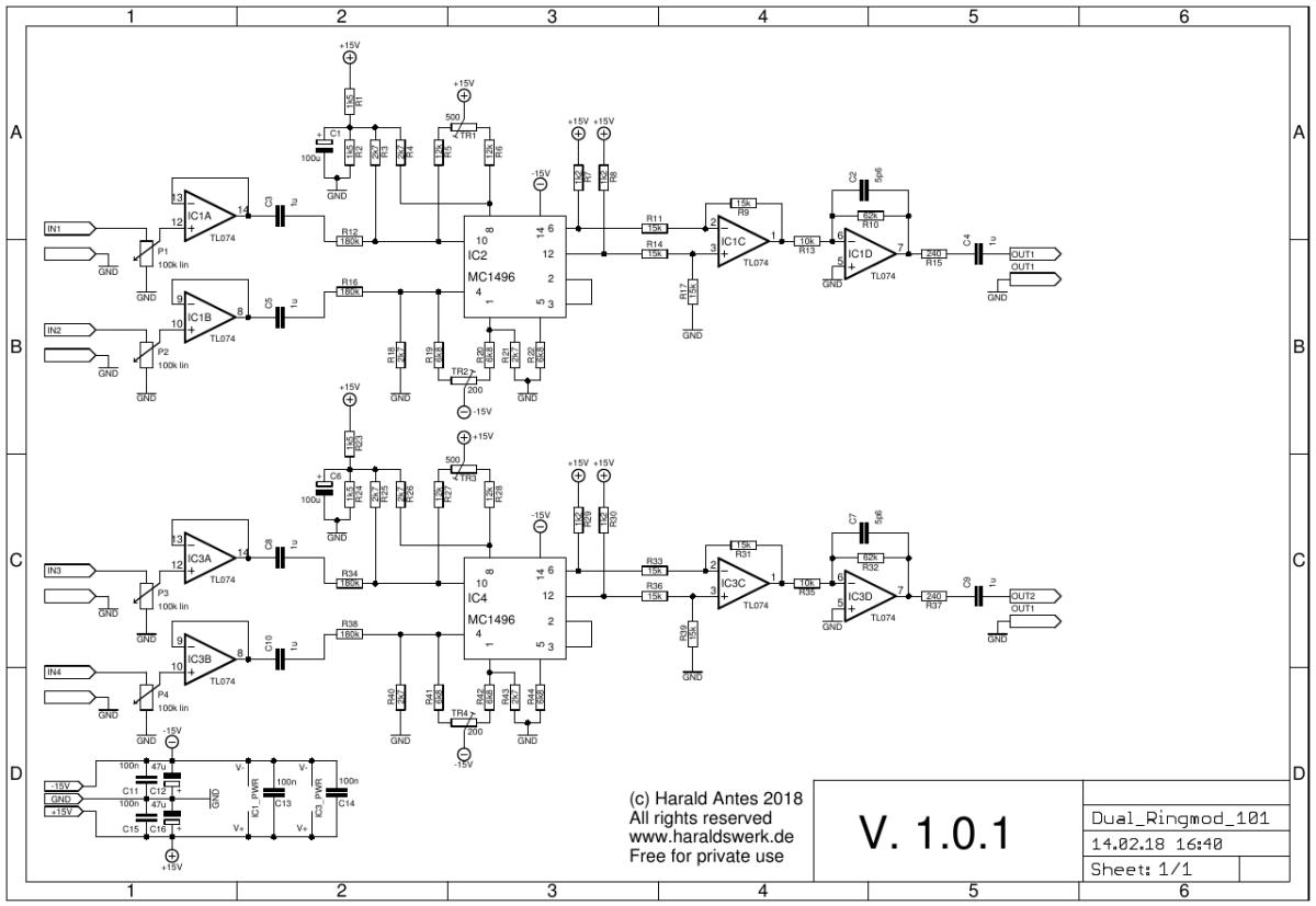 Next Generation Formant Dual Ringmodulator Envelope Follower Schematic